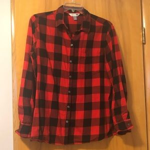 Old Navy Buffalo Check Flannel Shirt Size XL EUC
